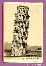 CDV ALBUMINÉE CABINET : ITALIE, PISA,  LA TOUR DE PISE, CAMPANILE EN 1879  -G58