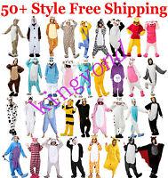 *New Unisex Adult Kigurumi Pajamas Animal Onesie1 Cosplay Costume Sleepwear*
