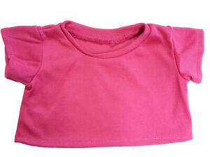 """Heliconia Pink Basic T-Shirt Teddy Bear Clothes Fit 14"""" - 18"""" Build-a-bear and M"""