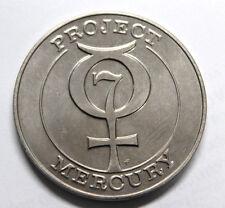 Project Mercury Sigma 7 Gold Tone Bronze Medal Schirra Franklin Mint REEDED EDGE