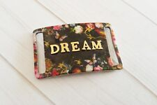 Word Pendant Connector Dream Floral Link Band Curved Wide Gold Black