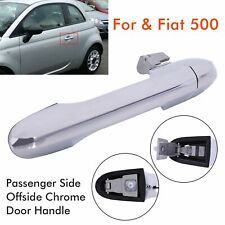 For Fiat 500 Near Side Passenger Side Offside Chrome Door Handle 735592026 New