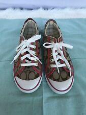 654d23fe3 Coach Barrett Khaki   Pink Encaje firma Cuero Ware Zapatillas Zapatos Talla  8.5