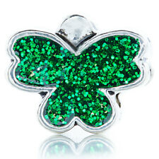 5Pcs Silver Green Butterfly Charm Beads Lot Fit European Bracelet Jewelry Making
