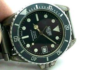Vintage Heuer 1000 200M Professional Divers 980.033 Rotating Bezel JUST SERVICED