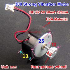 DC 2V-5V 120mA Micro 300 Carbon Brush Vibration Motor for Electric Massager DIY