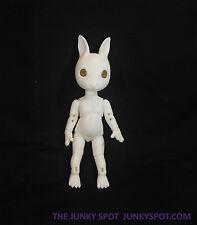 "JunkySpot Hujoo White "" NANO Rabbit ""  Version 2 Bunny 12cm ABS Anthro BJD Dol"
