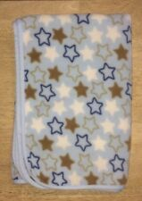 Baby Boys Blanket Stars Navy Blue Brown White Plush Lovey Rashti Rashti