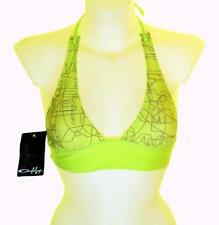 """Bnwt Women's Oakley Jaw Breaker Padded Bikini Top Swim Surf Small 34""""-35"""" Green"""