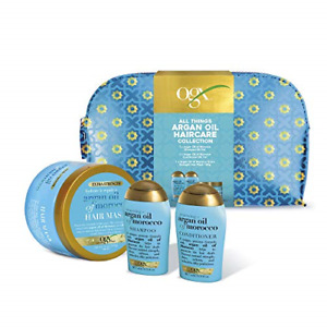 OGX Gift Set, Argan Oil of Morroco Hair Care Gift Set with Shampoo, Conditioner,