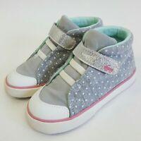NWOT See Kai Run Toddlers Girls Sz 9 Basics Kristin Gray White High Top Sneakers