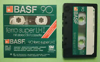 MC Musicassetta BASF Ferro Super LH I 90 vintage compact cassette tape USATA