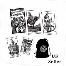 Bianco Nero Black and White Tarot Deck 78 Cards + Velvet Bag Made in Italy