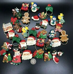 37 Hand Crafted Christmas Brooches Lapel Resin Pins