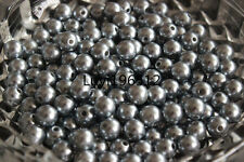 Wholesale 100/500/1000pcs ABS Pearl Round Spacer Loose charm Bead 6mm/8mm/10mm