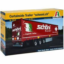 Italeri 3918 Curtainside Trailer 1:24 Truck Model Kit