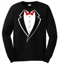 Suit Tuxedo Stinson Costume Party Gift Wedding FUNNY MENS LONG SLEEVE T-SHIRT
