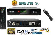 HiTube 4K UHD DVB-S2X + DVB-T2/C, CX, WIFI,LAN  Linux E2 Combo Receiver Open ATV