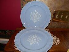 Set of 2 Vintage Rare Pfaltzgraff Gazebo Blue Bouquet Blue Dinner Plates BNOS