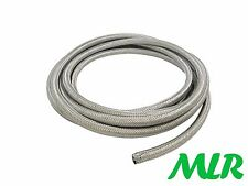 "6MM 1/4"" STAINLESS STEEL BRAIDED RUBBER FUEL INJECTION HOSE PIPE 1/2 METER BAF.5"