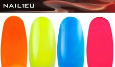 PROFESIONAL Gel de colores SET NAIL1.EU NEÓN 4x5ml/ UV/ uñas/ color/