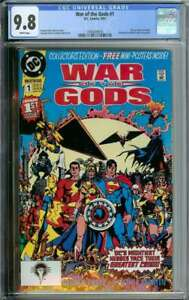 WAR OF THE GODS #1 CGC 9.8 WHITE PAGES // PIN-UP POSTER INCLUDED 1991