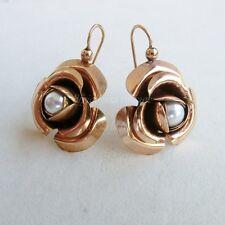 R Orecchini stile 800 rose Thea lega oro perle earrings