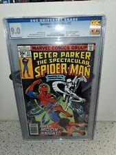 CGC 9.0 SPECTACULAR SPIDERMAN #22 MARVEL 9/78 MOON KNIGHT APP