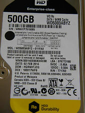 500 GB Western Digital WD5003ABYZ-011FA0 / HGRNHTJCG / FEB 2014 /2060-771702-001