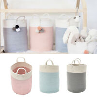 LD_ ND_ COTTON ROPE STORAGE BASKET BABY LAUNDRY BASKET WOVEN BASKETS WITH HAND