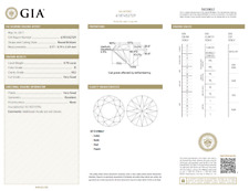 0.70 Carat Loose E / VS2 Round Brilliant Cut Diamond GIA Certified