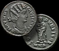 FAUSTA / Wife to Constantine I. Struck 325-326 AD. Extremly RARE (R4) Follis+COA
