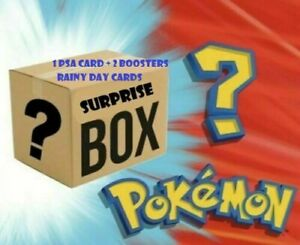 Pokemon Suprise Mystery Box $119.99! 1x PSA Graded Card + 2 Boosters + tcg