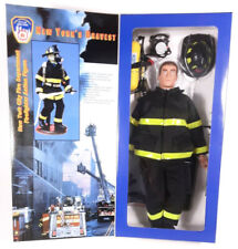 "Fire Zone FDNY NY's Bravest 12"" Scale Model NYC Firefighter In Full Turnout Gear"