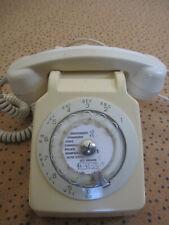 Telephone à cadran S63 vintage SOCOTEL crème années 70 Beige