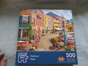 500  Piece Jigsaw Corner Piece Puzzle Harbour View