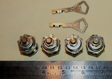 """4 x Abloy 7/8"""" long cam locks w/ working 2 keys for 1 price - Made in Finland"""