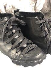 Velobas Womens Black Leather Hightop Sneaker 6.5