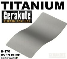 Cerakote, Titanium H-170, Firearm Paint Finish, Oven Cure 45 ml kit