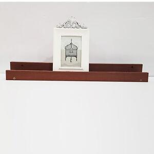 Custom Wooden Picture Ledge Floating Shelf 120 cm Wall Photo Frame Book Rail