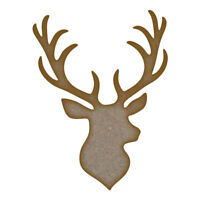 Stag Head 2 MDF Laser Cut Craft Blanks in Various Sizes
