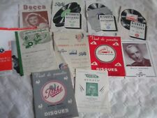 Vintage record catalogues french 1950s columbia HMV Decca Pathé etc 78s 45s 33s