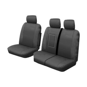 Canvas Custom Made Front Seat Covers Ford Transit Custom VN VO 9/2013-On Charcoa