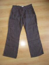 Pantalon en lin Versace Marron Taille 42 à - 68%