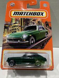 2021 MATCHBOX #42/100 - 1971 MGB GT Coupe (Green) 1x Long Card (Mix 3) New
