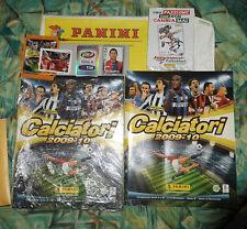 2 ALBUM CALCIATORI PANINI 2009-2010 VUOTI + 6 V + AGGIORNAMENTI 2012-2013 + VARI