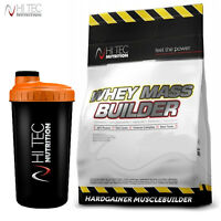 WHEY MASS BUILDER 1500g - Anabolic Weight Gainer Muscle Mass Growth FREE SHAKER