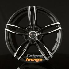 4 Jantes Alu AVUS Racing af15 black polished 7,5x17 et45 5x112 ml66, 6 NEUF