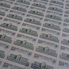 FEUILLE SHEET TIMBRE ECOLE DE L'AIR AVIATION N°1463 x50 1965 NEUF ** LUXE MNH