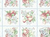 WAVERLY WALLPAPER COUNTRY FRUIT ORCHARD GARDEN NEW
